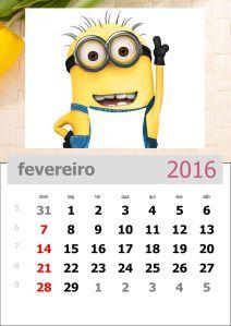 calendário-dos-minions-mês-de-fevereiro-de-2016